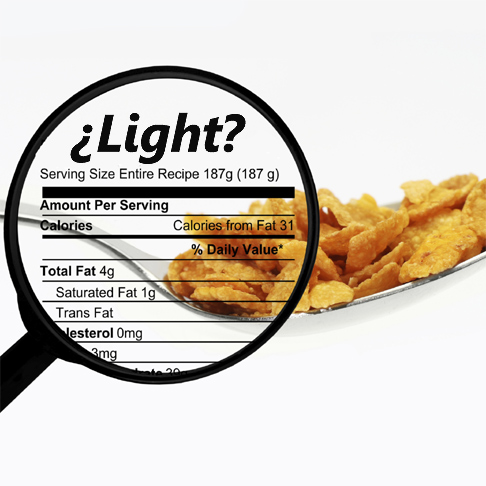 ¿Los alimentos 'light' engordan?
